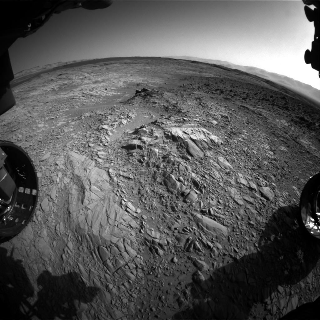 Nasa's Mars rover Curiosity acquired this image using its Front Hazard Avoidance Camera (Front Hazcam) on Sol 1158, at drive 2438, site number 50