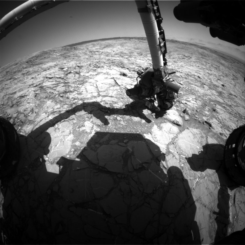 NASA's Mars rover Curiosity acquired this image using its Front Hazard Avoidance Cameras (Front Hazcams) on Sol 1158