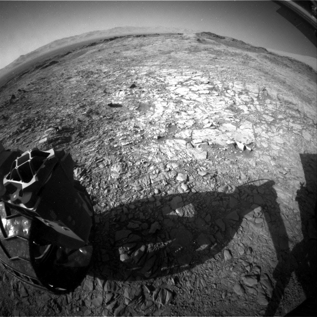 NASA's Mars rover Curiosity acquired this image using its Rear Hazard Avoidance Cameras (Rear Hazcams) on Sol 1158