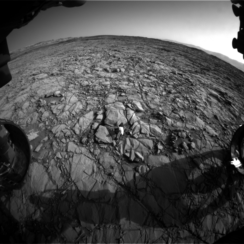 Nasa's Mars rover Curiosity acquired this image using its Front Hazard Avoidance Camera (Front Hazcam) on Sol 1160, at drive 2772, site number 50
