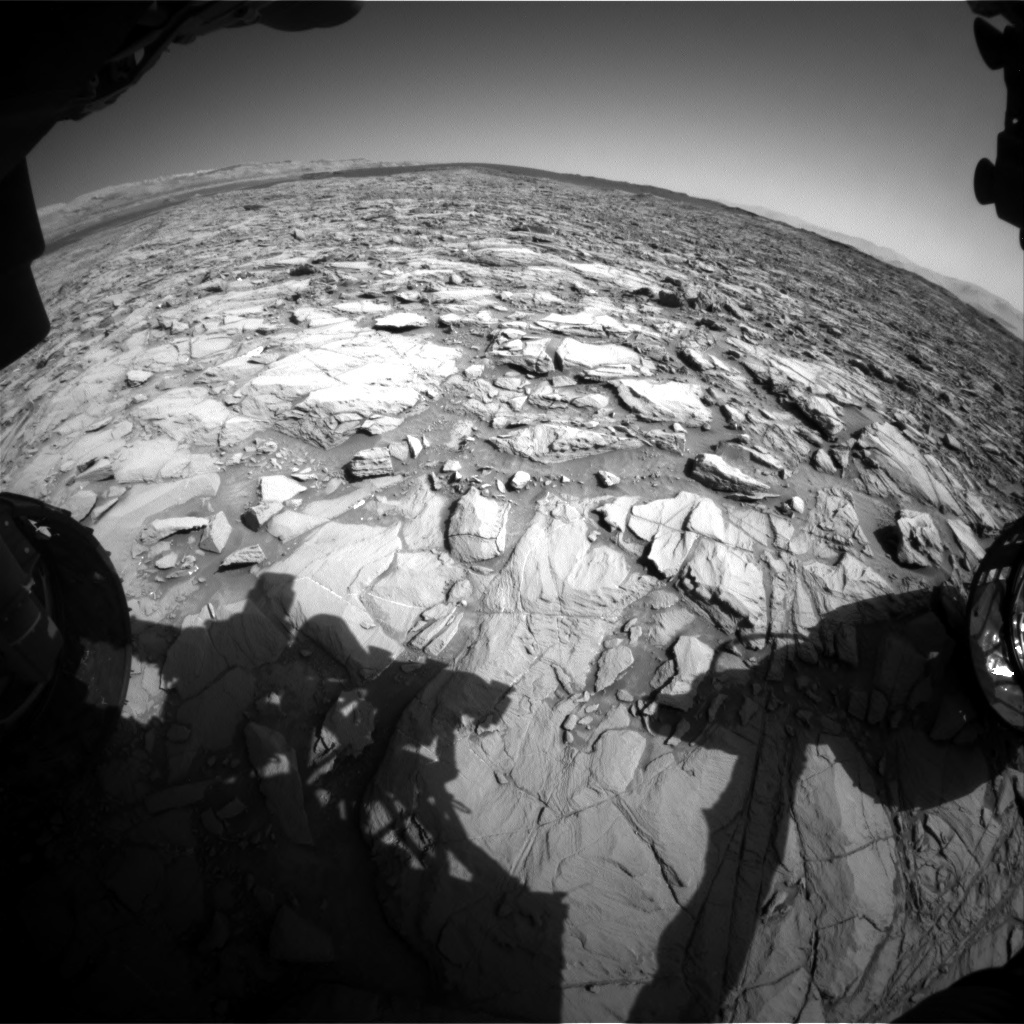 NASA's Mars rover Curiosity acquired this image using its Front Hazard Avoidance Cameras (Front Hazcams) on Sol 1162