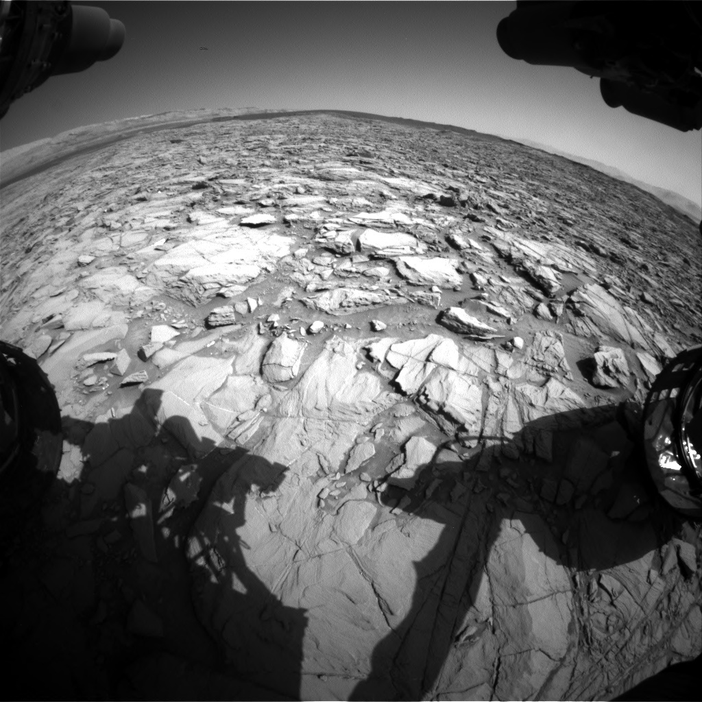 Nasa's Mars rover Curiosity acquired this image using its Front Hazard Avoidance Camera (Front Hazcam) on Sol 1162, at drive 3036, site number 50