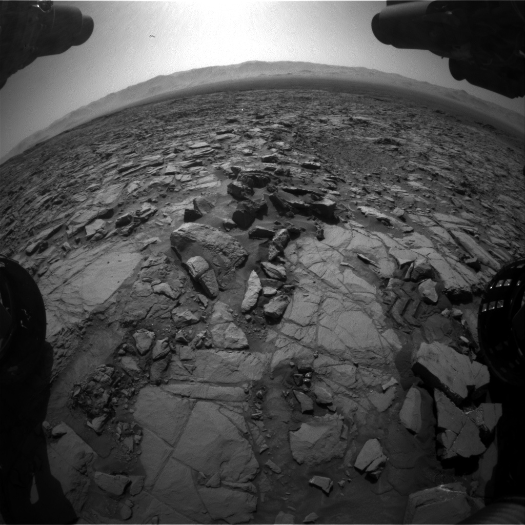 Nasa's Mars rover Curiosity acquired this image using its Front Hazard Avoidance Camera (Front Hazcam) on Sol 1162, at drive 3076, site number 50