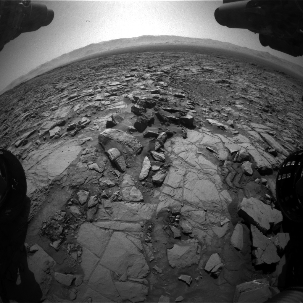 Nasa's Mars rover Curiosity acquired this image using its Front Hazard Avoidance Camera (Front Hazcam) on Sol 1163, at drive 3076, site number 50