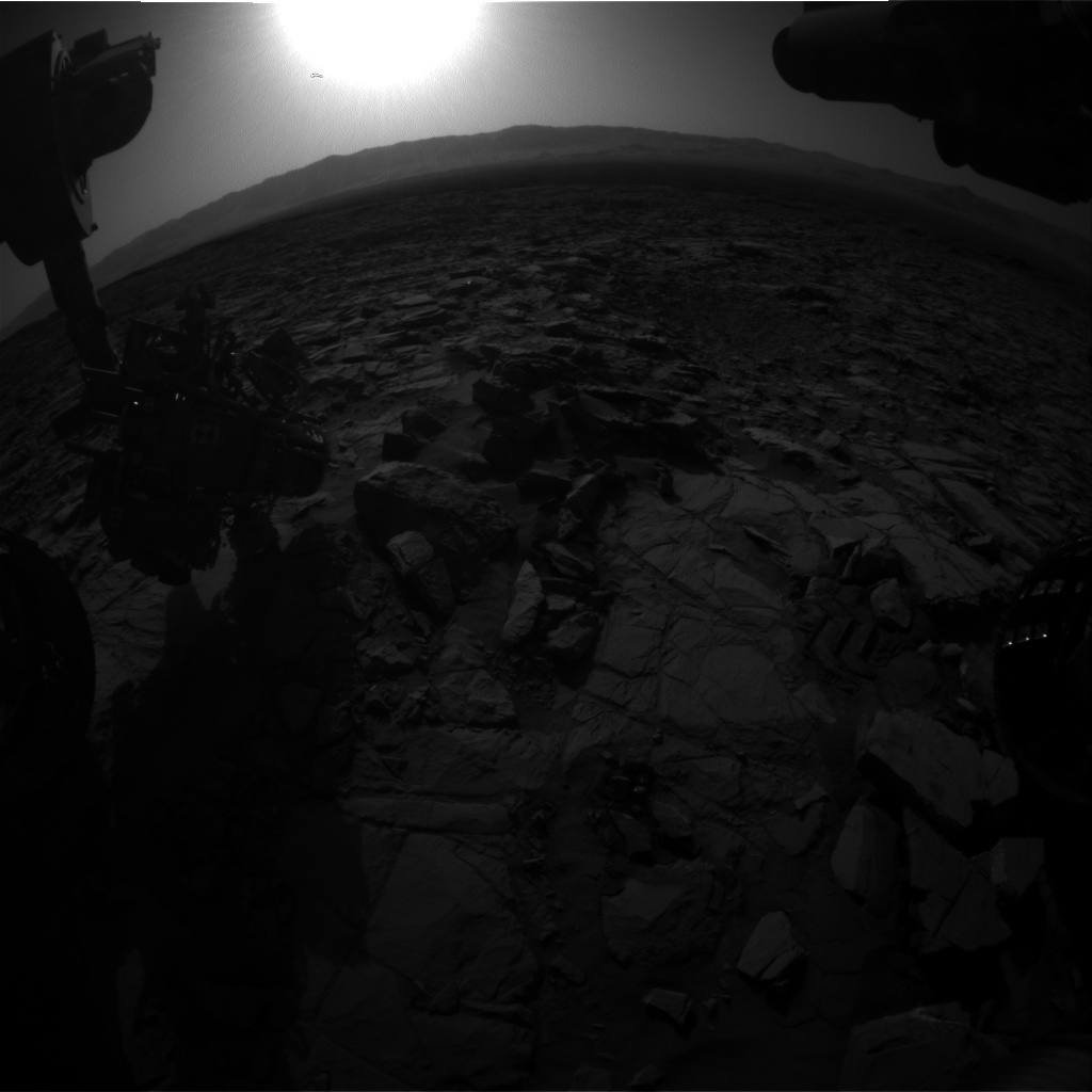 Nasa's Mars rover Curiosity acquired this image using its Front Hazard Avoidance Camera (Front Hazcam) on Sol 1166, at drive 3076, site number 50