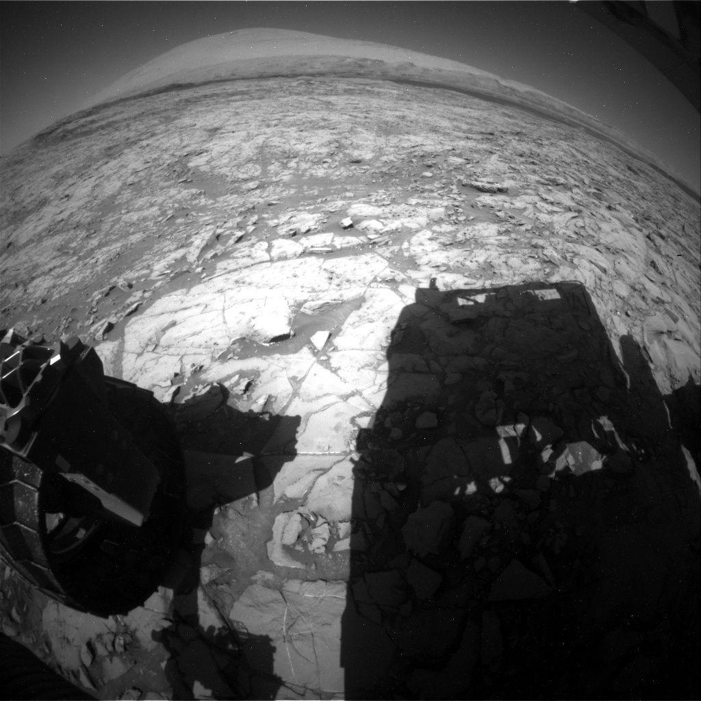 NASA's Mars rover Curiosity acquired this image using its Rear Hazard Avoidance Cameras (Rear Hazcams) on Sol 1166