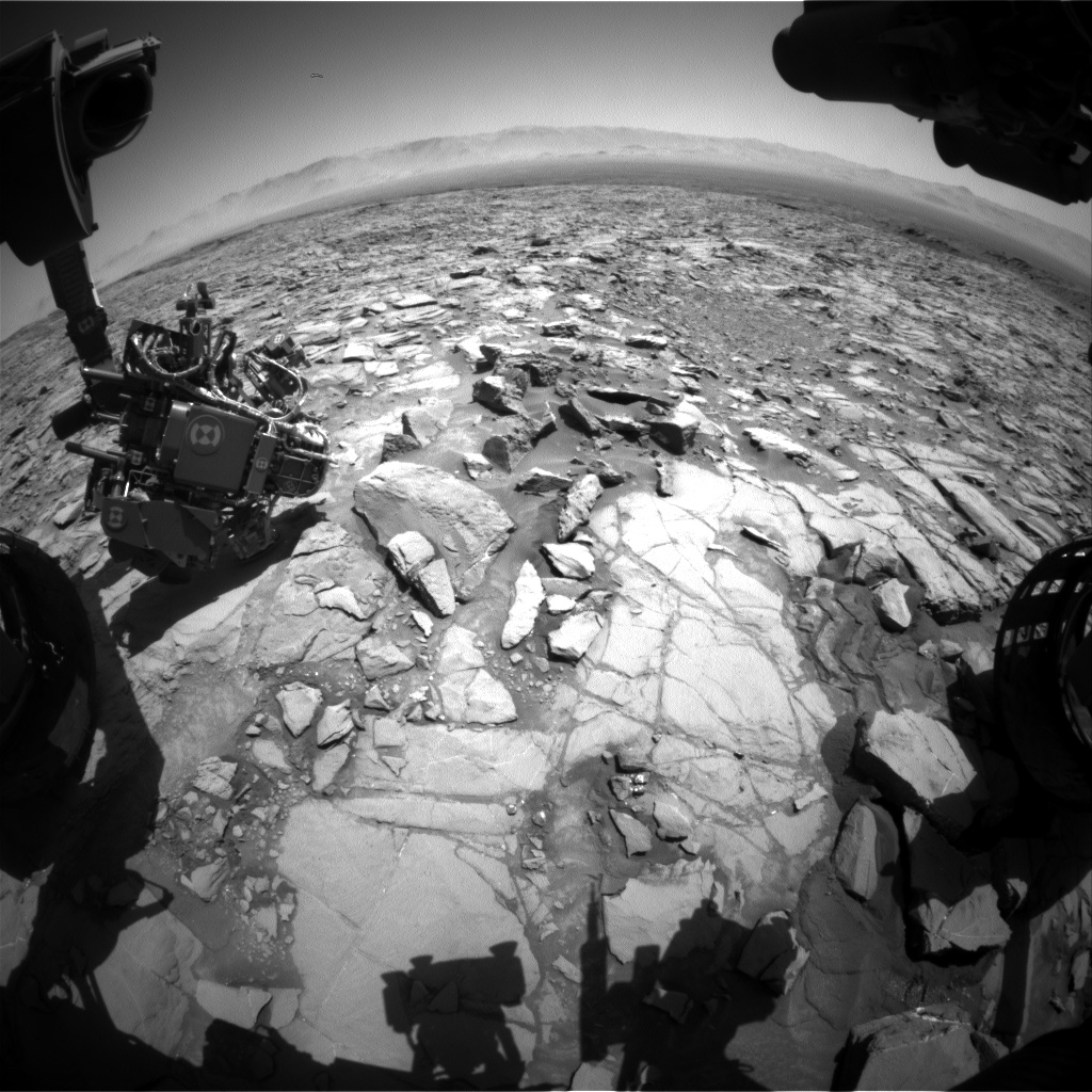 Nasa's Mars rover Curiosity acquired this image using its Front Hazard Avoidance Camera (Front Hazcam) on Sol 1167, at drive 3076, site number 50
