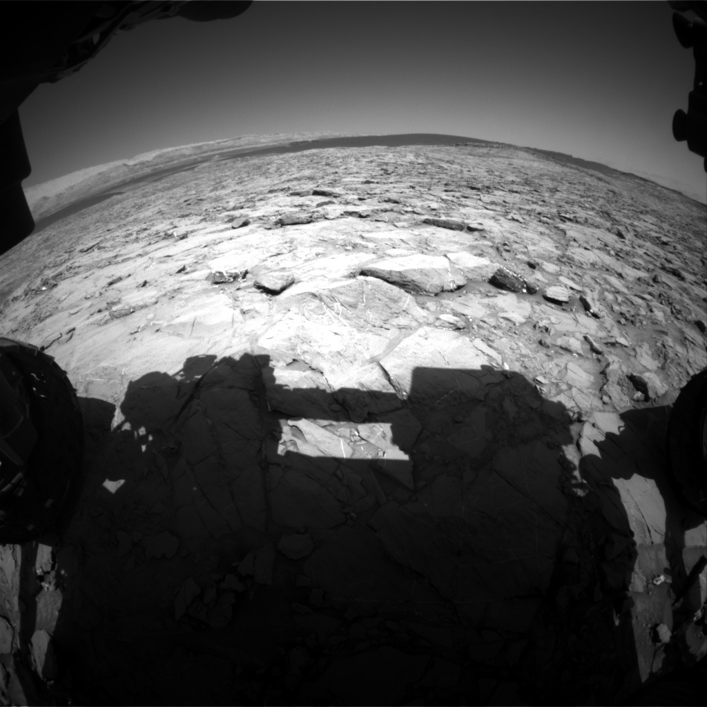 NASA's Mars rover Curiosity acquired this image using its Front Hazard Avoidance Cameras (Front Hazcams) on Sol 1168