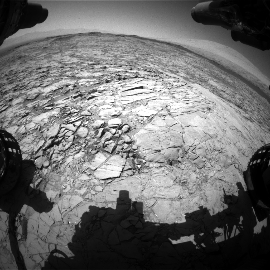 Nasa's Mars rover Curiosity acquired this image using its Front Hazard Avoidance Camera (Front Hazcam) on Sol 1170, at drive 268, site number 51