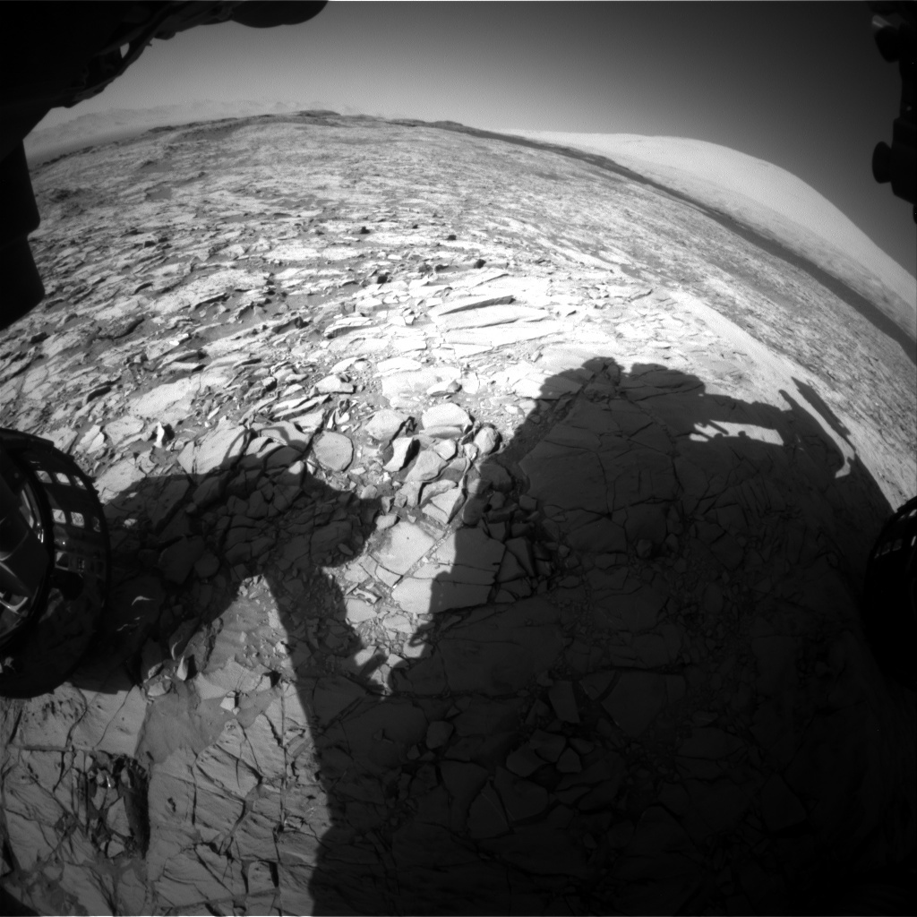 NASA's Mars rover Curiosity acquired this image using its Front Hazard Avoidance Cameras (Front Hazcams) on Sol 1171