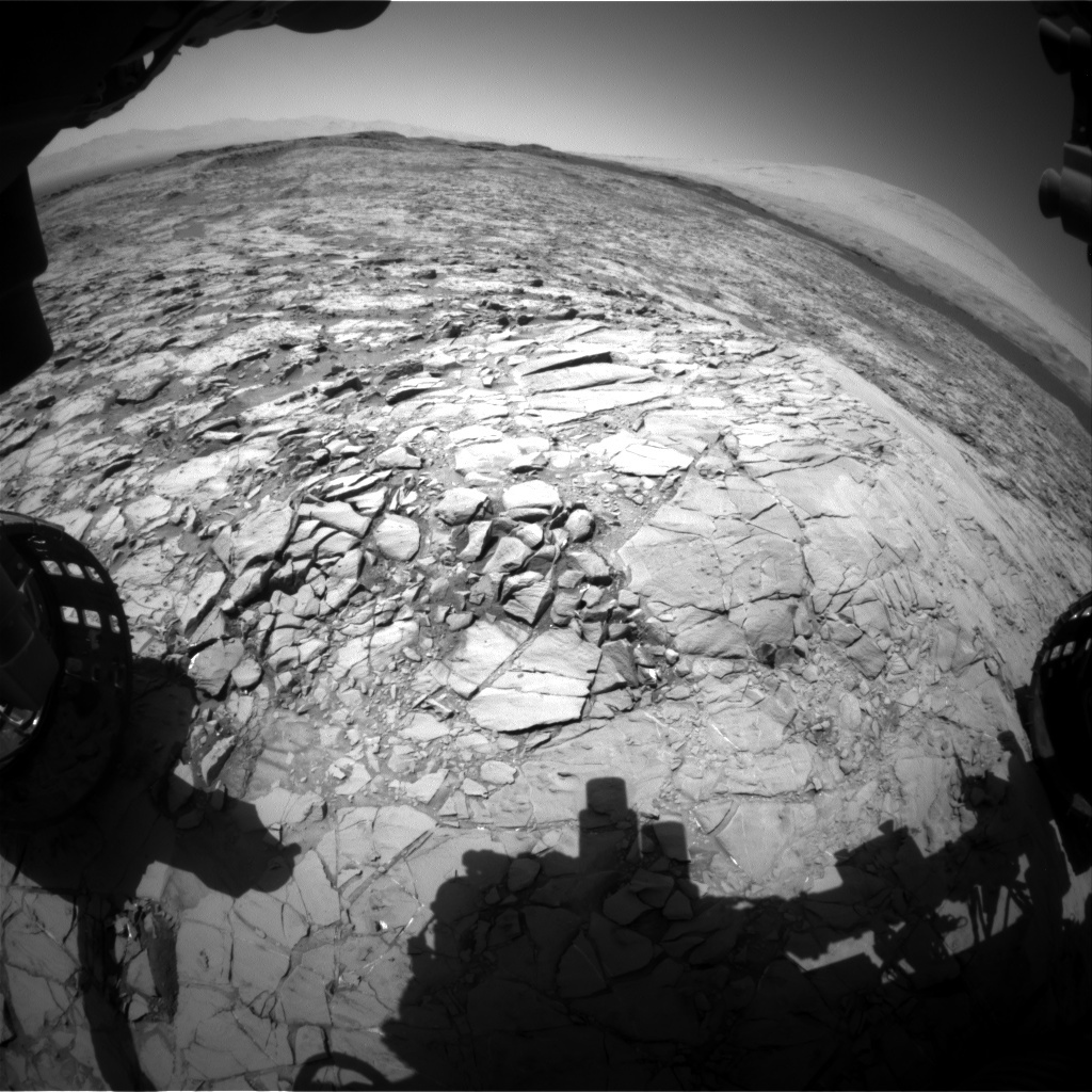 NASA's Mars rover Curiosity acquired this image using its Front Hazard Avoidance Cameras (Front Hazcams) on Sol 1172