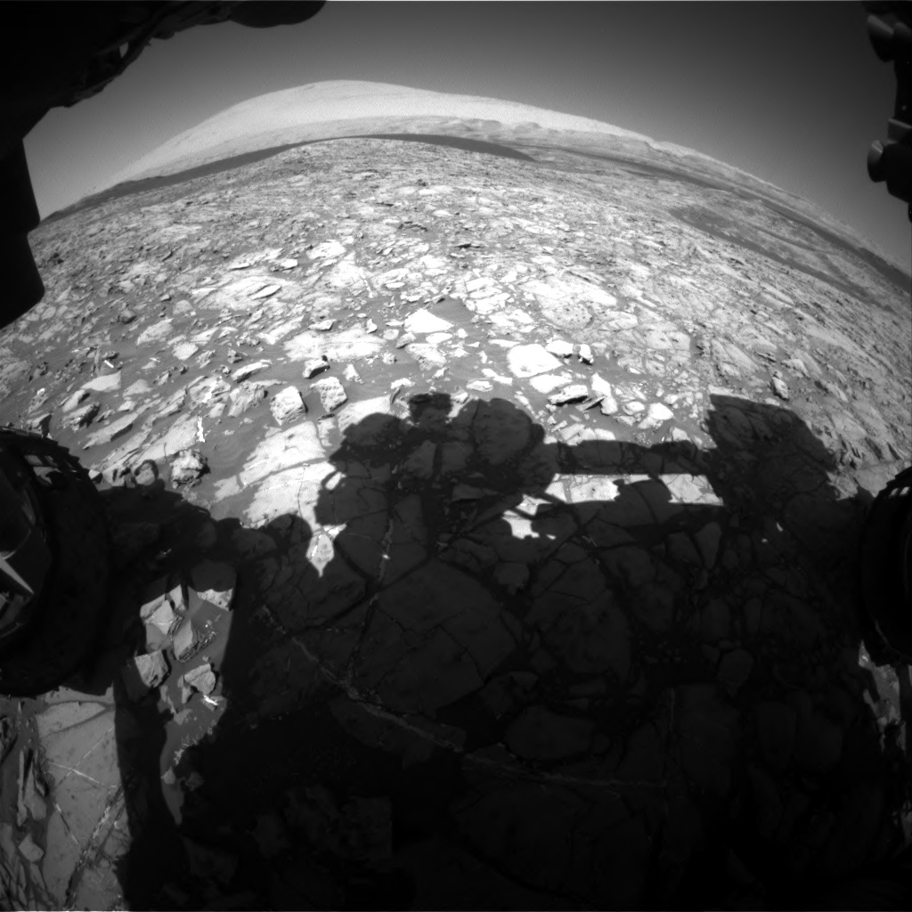 Nasa's Mars rover Curiosity acquired this image using its Front Hazard Avoidance Camera (Front Hazcam) on Sol 1172, at drive 592, site number 51