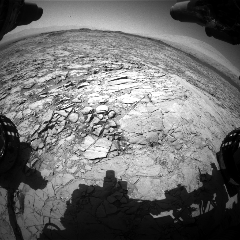 Nasa's Mars rover Curiosity acquired this image using its Front Hazard Avoidance Camera (Front Hazcam) on Sol 1172, at drive 268, site number 51