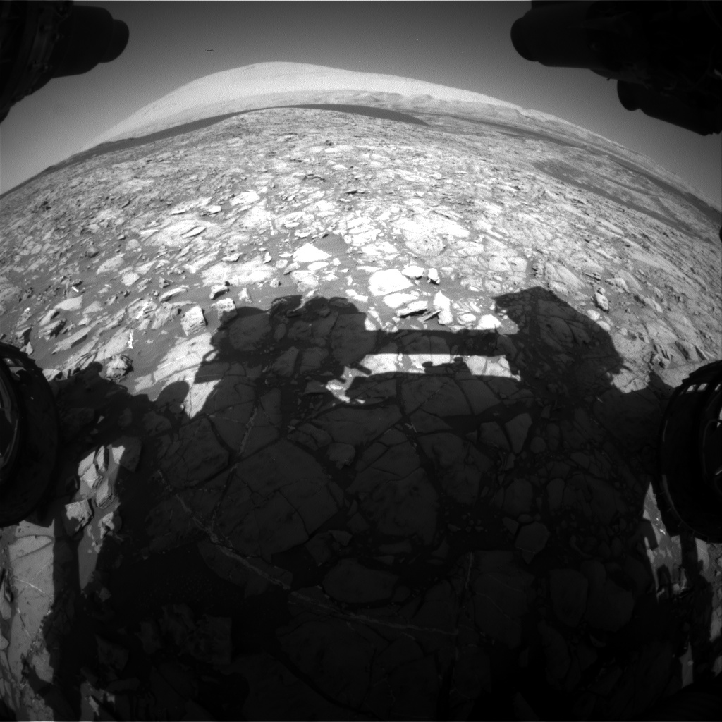 Nasa's Mars rover Curiosity acquired this image using its Front Hazard Avoidance Camera (Front Hazcam) on Sol 1173, at drive 592, site number 51