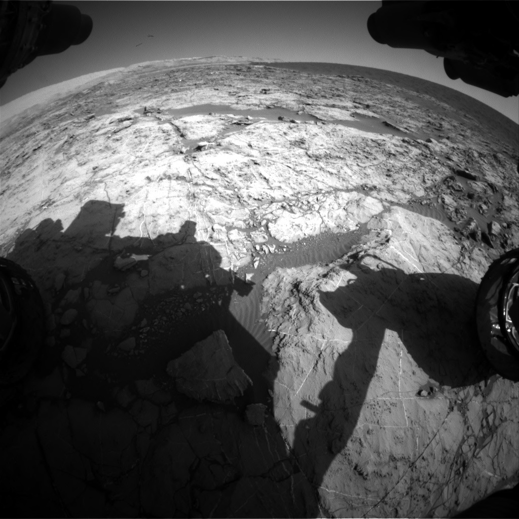 Nasa's Mars rover Curiosity acquired this image using its Front Hazard Avoidance Camera (Front Hazcam) on Sol 1173, at drive 874, site number 51