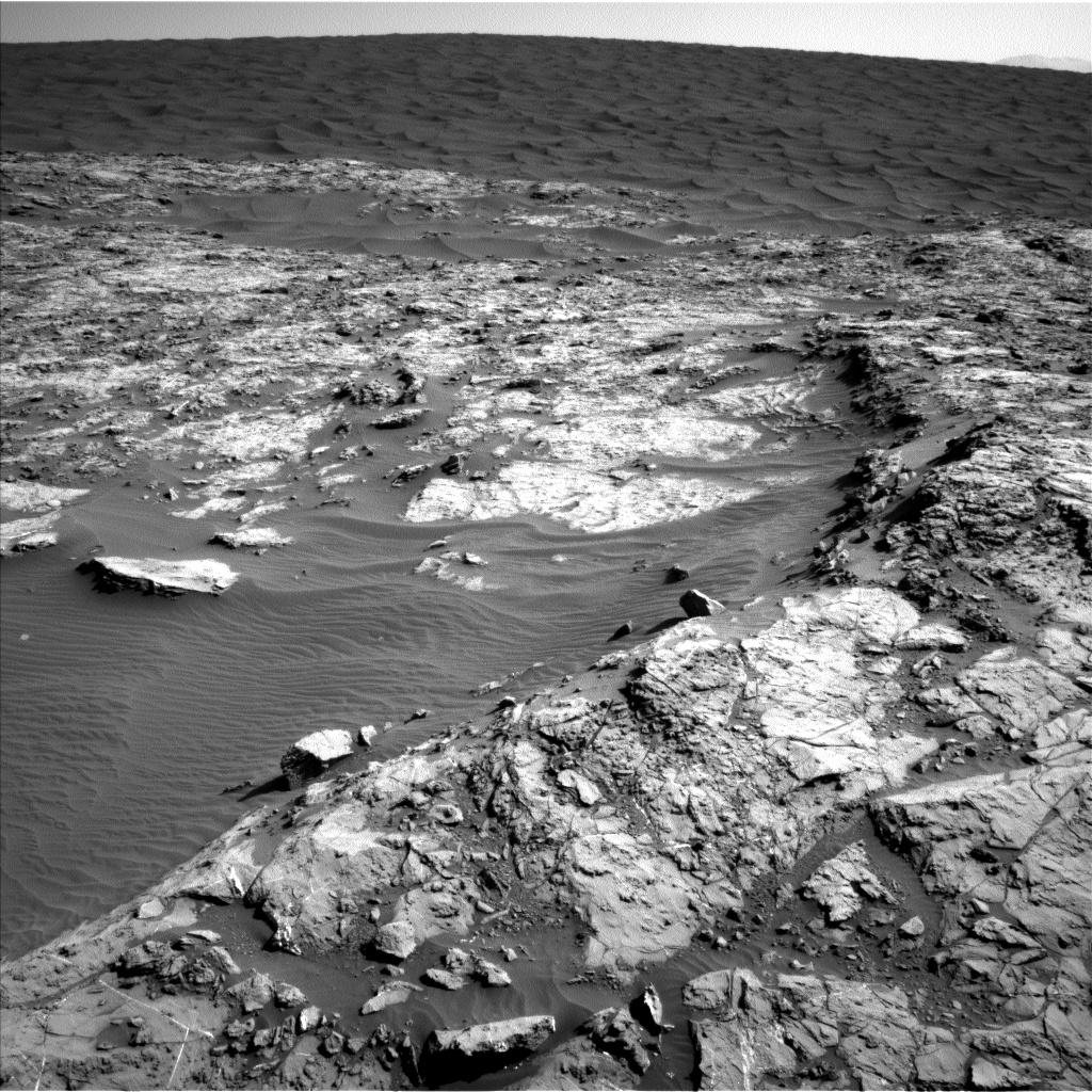 Sol 1173 Navcam of sandsheet