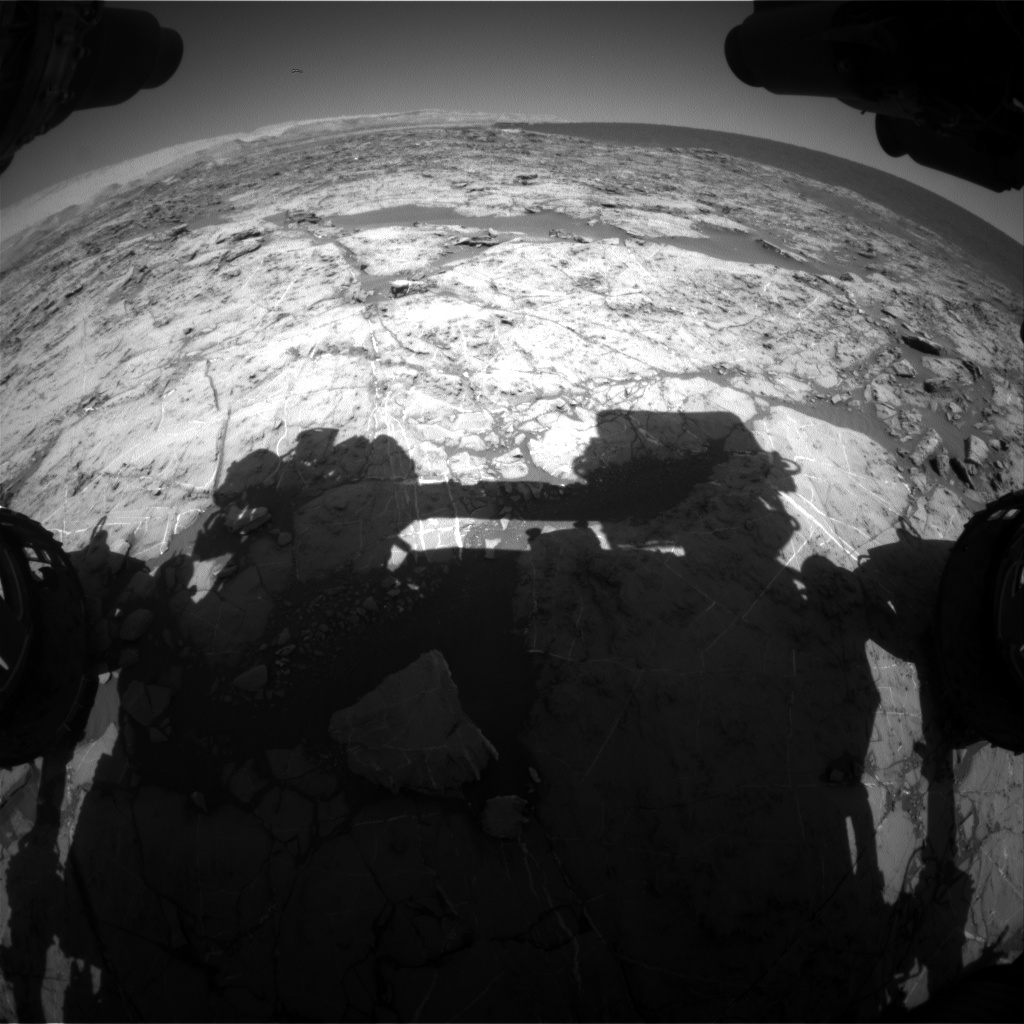 Nasa's Mars rover Curiosity acquired this image using its Front Hazard Avoidance Camera (Front Hazcam) on Sol 1174, at drive 874, site number 51