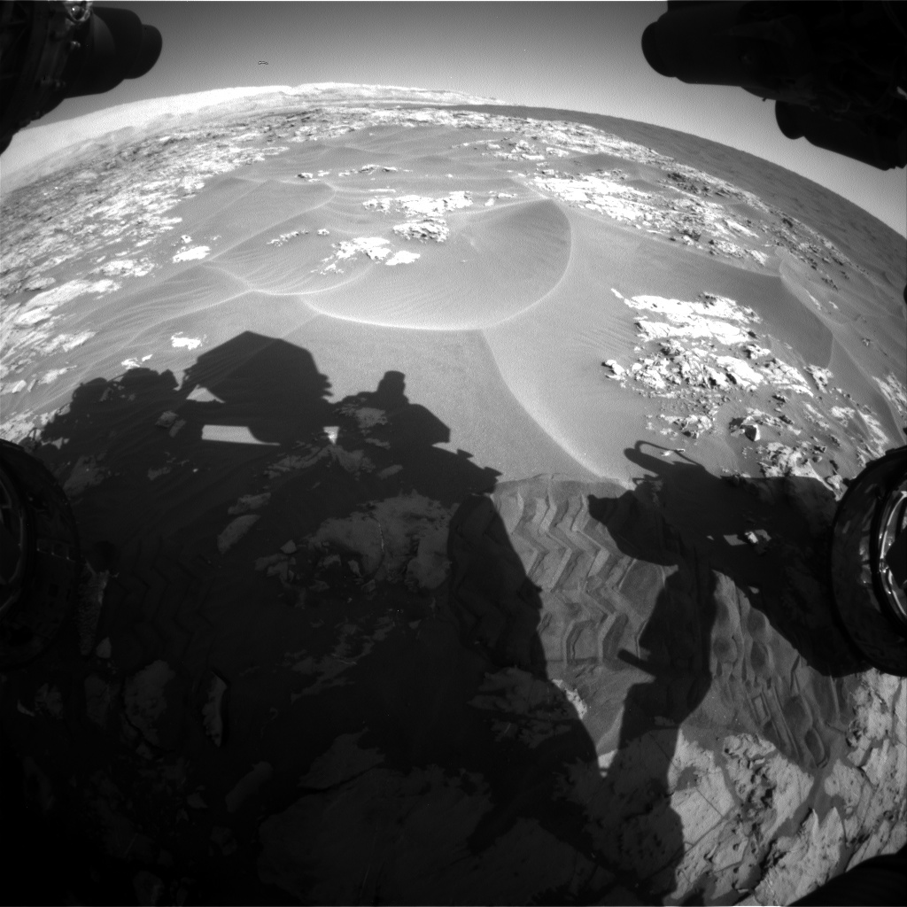 Nasa's Mars rover Curiosity acquired this image using its Front Hazard Avoidance Camera (Front Hazcam) on Sol 1174, at drive 1102, site number 51