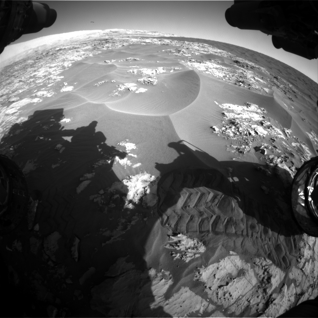 Nasa's Mars rover Curiosity acquired this image using its Front Hazard Avoidance Camera (Front Hazcam) on Sol 1176, at drive 1102, site number 51