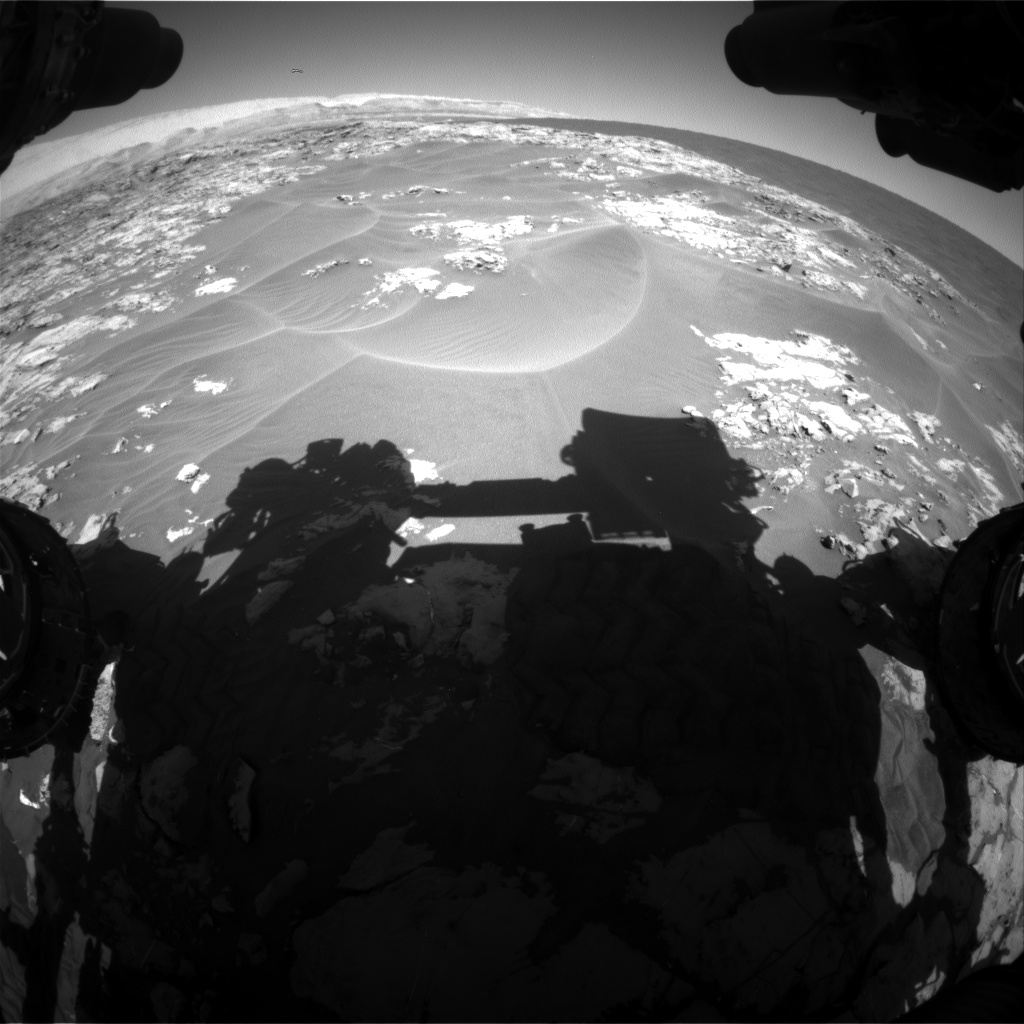 Nasa's Mars rover Curiosity acquired this image using its Front Hazard Avoidance Camera (Front Hazcam) on Sol 1177, at drive 1102, site number 51