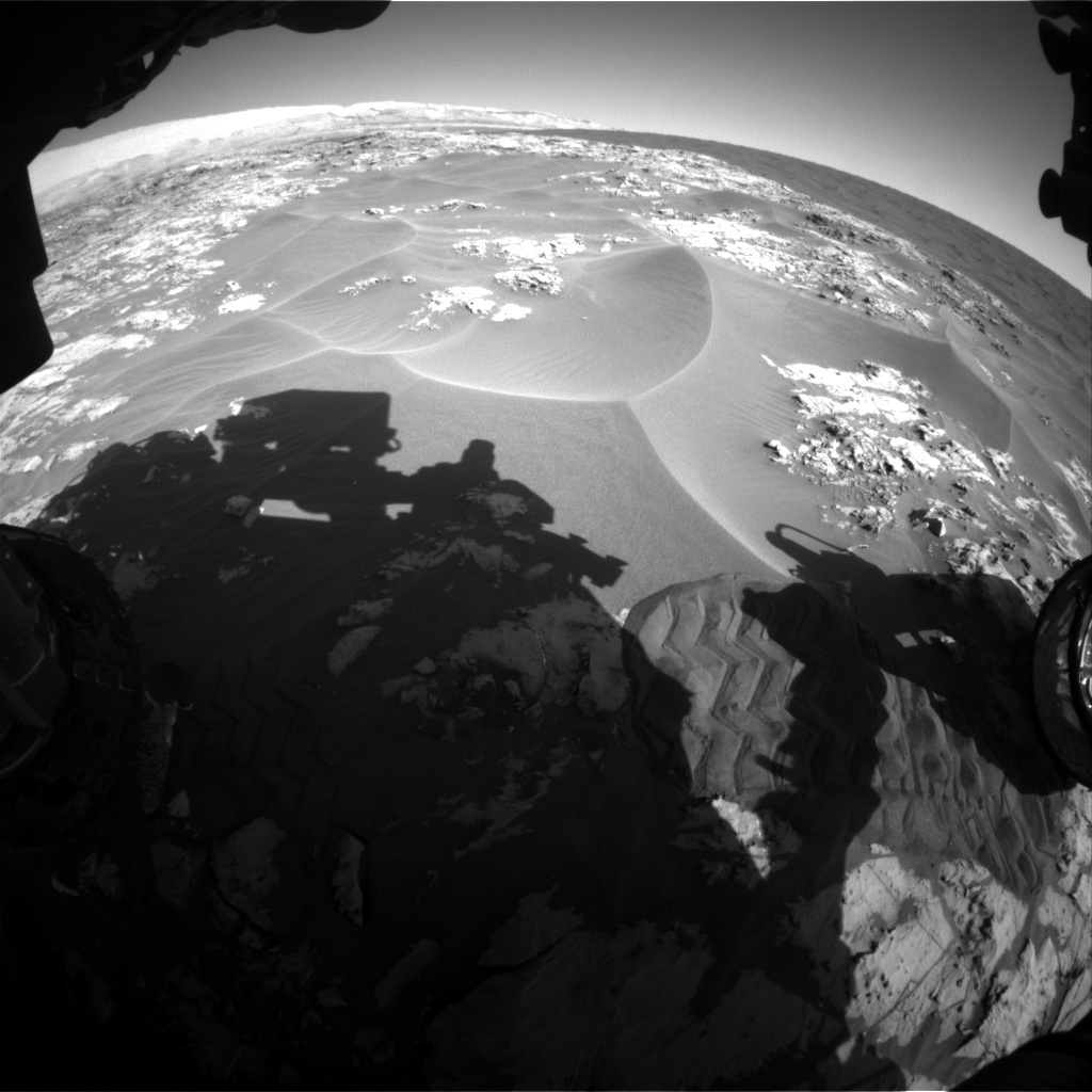 Nasa's Mars rover Curiosity acquired this image using its Front Hazard Avoidance Camera (Front Hazcam) on Sol 1178, at drive 1102, site number 51