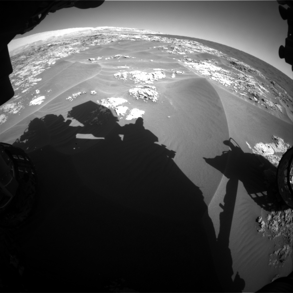 Nasa's Mars rover Curiosity acquired this image using its Front Hazard Avoidance Camera (Front Hazcam) on Sol 1179, at drive 1126, site number 51