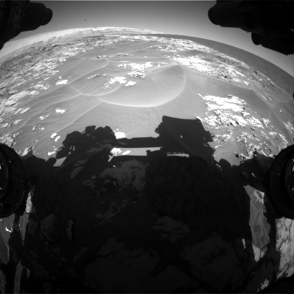 Nasa's Mars rover Curiosity acquired this image using its Front Hazard Avoidance Camera (Front Hazcam) on Sol 1179, at drive 1102, site number 51