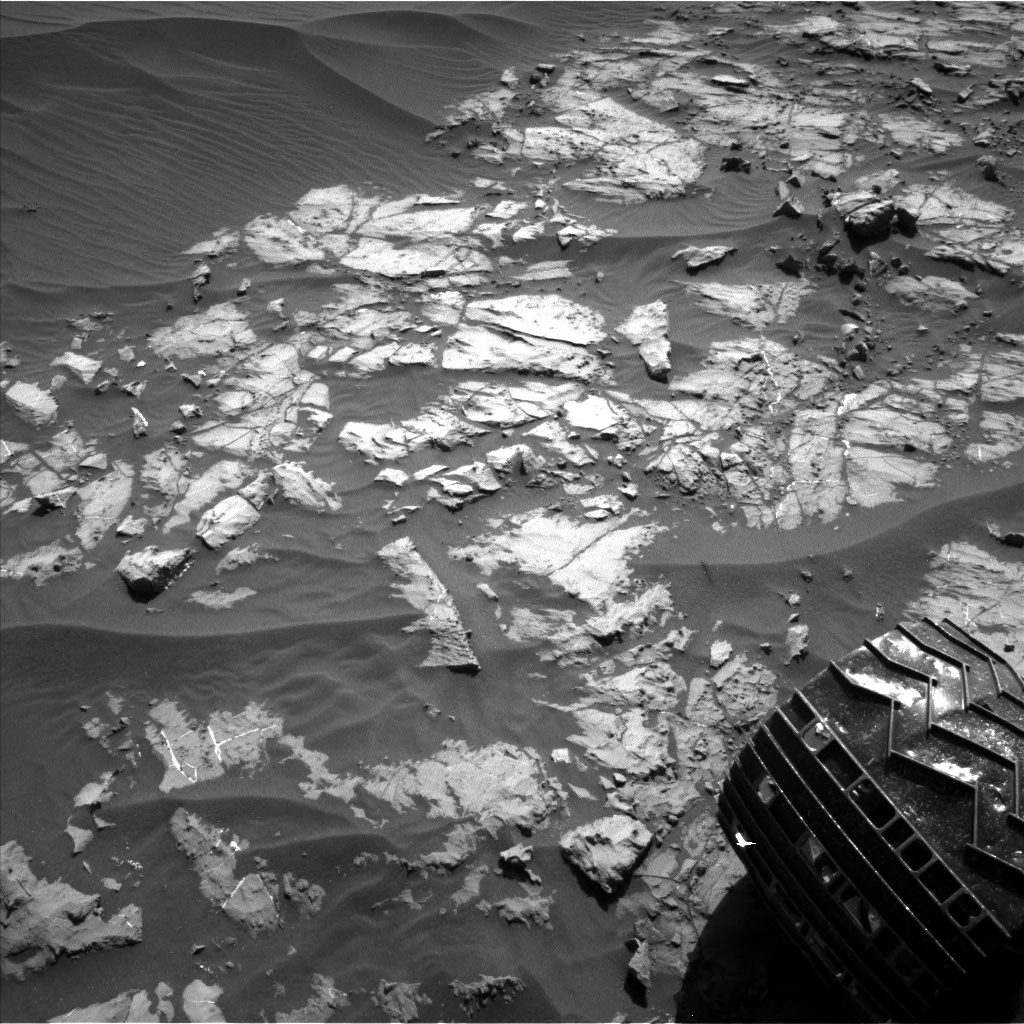 Nasa's Mars rover Curiosity acquired this image using its Left Navigation Camera on Sol 1179, at drive 1126, site number 51