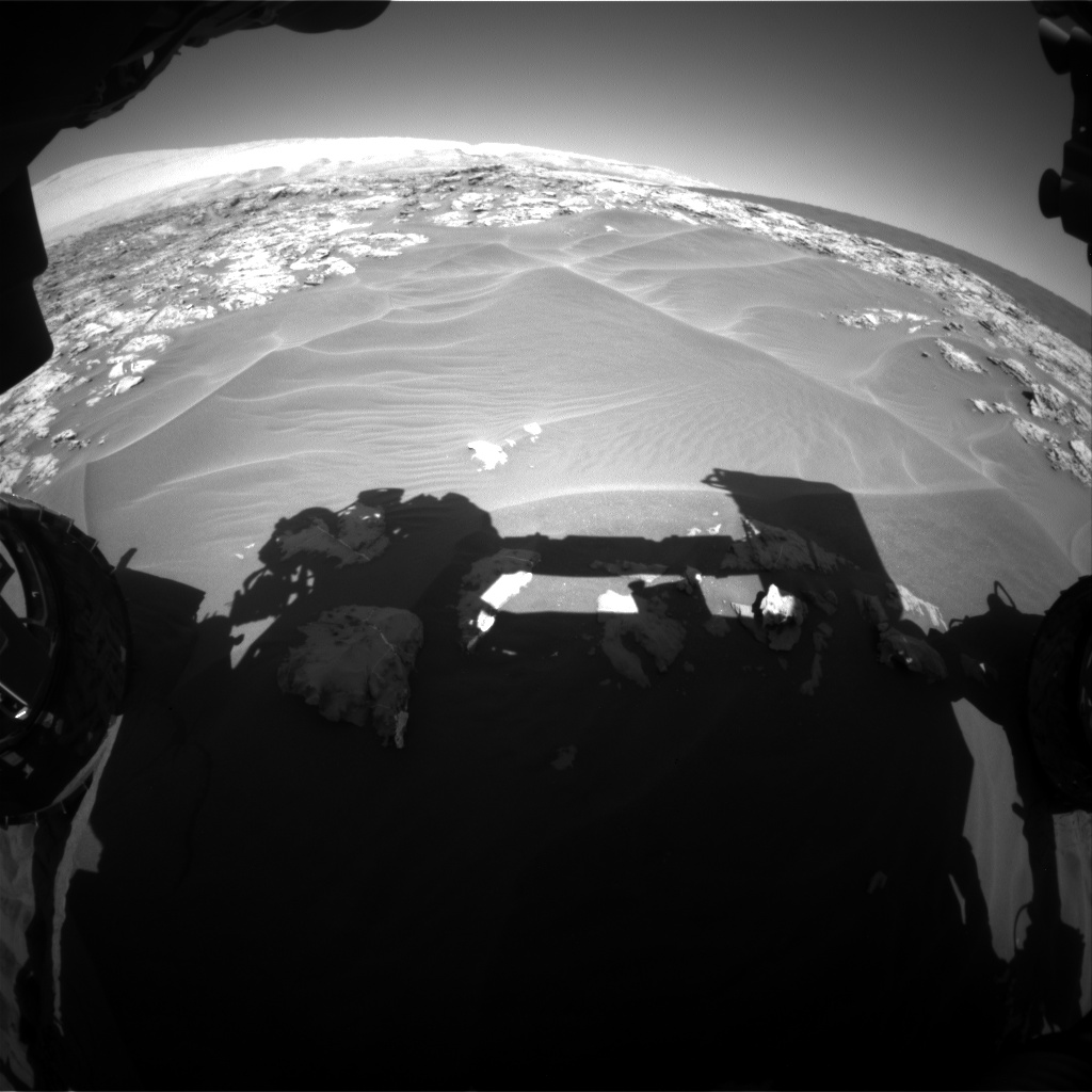 Nasa's Mars rover Curiosity acquired this image using its Front Hazard Avoidance Camera (Front Hazcam) on Sol 1181, at drive 1192, site number 51