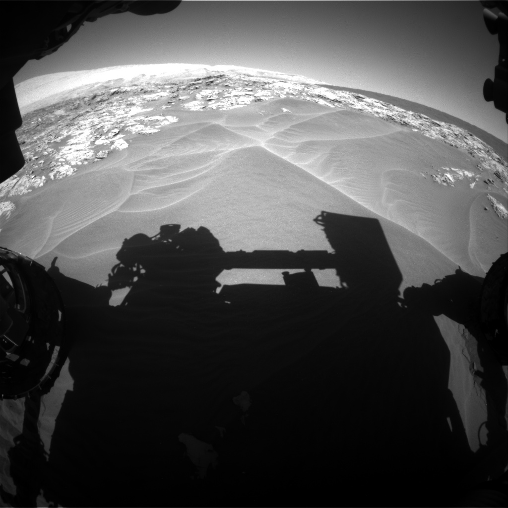 Nasa's Mars rover Curiosity acquired this image using its Front Hazard Avoidance Camera (Front Hazcam) on Sol 1181, at drive 1210, site number 51