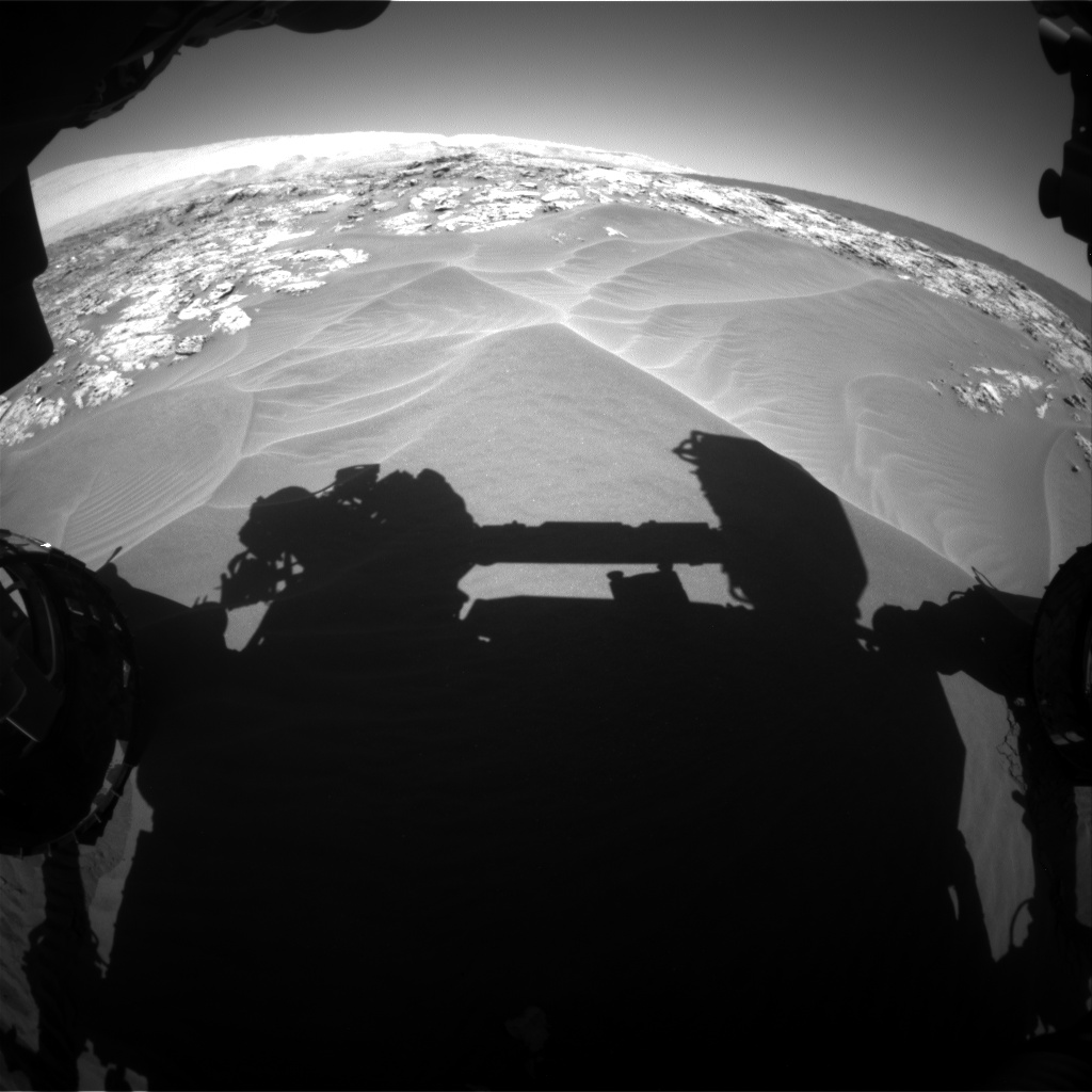 Nasa's Mars rover Curiosity acquired this image using its Front Hazard Avoidance Camera (Front Hazcam) on Sol 1181, at drive 1216, site number 51