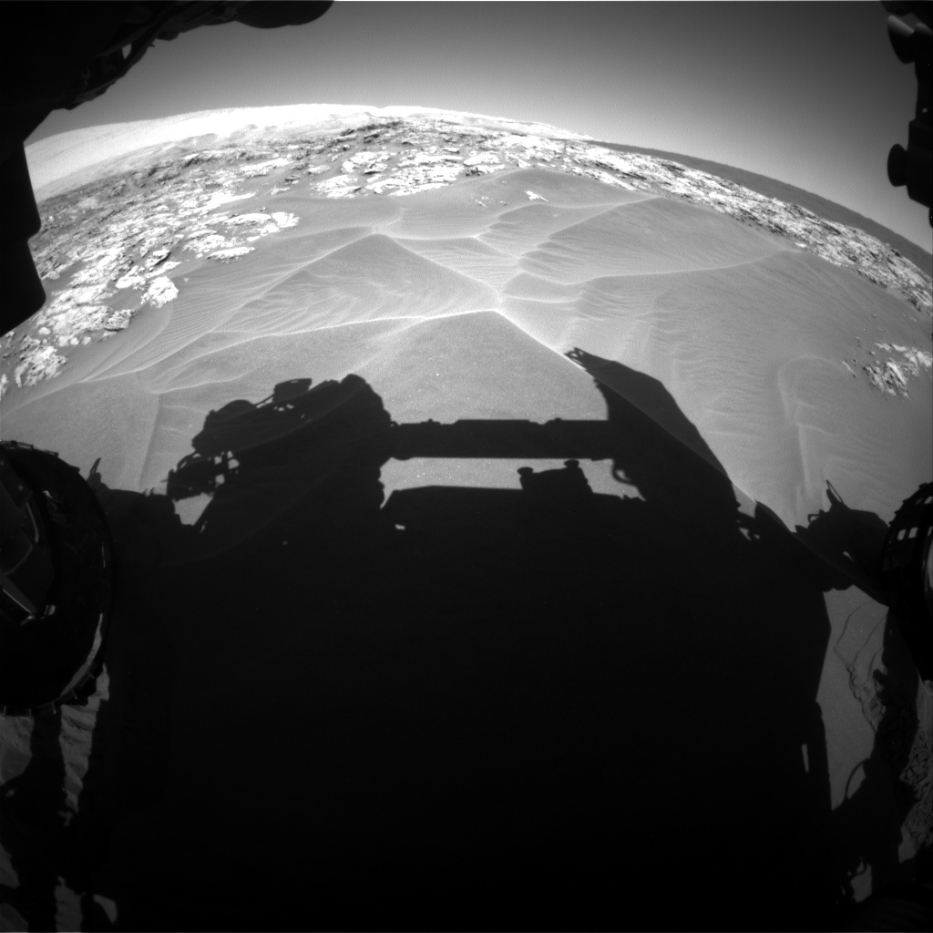 Nasa's Mars rover Curiosity acquired this image using its Front Hazard Avoidance Camera (Front Hazcam) on Sol 1181, at drive 1234, site number 51