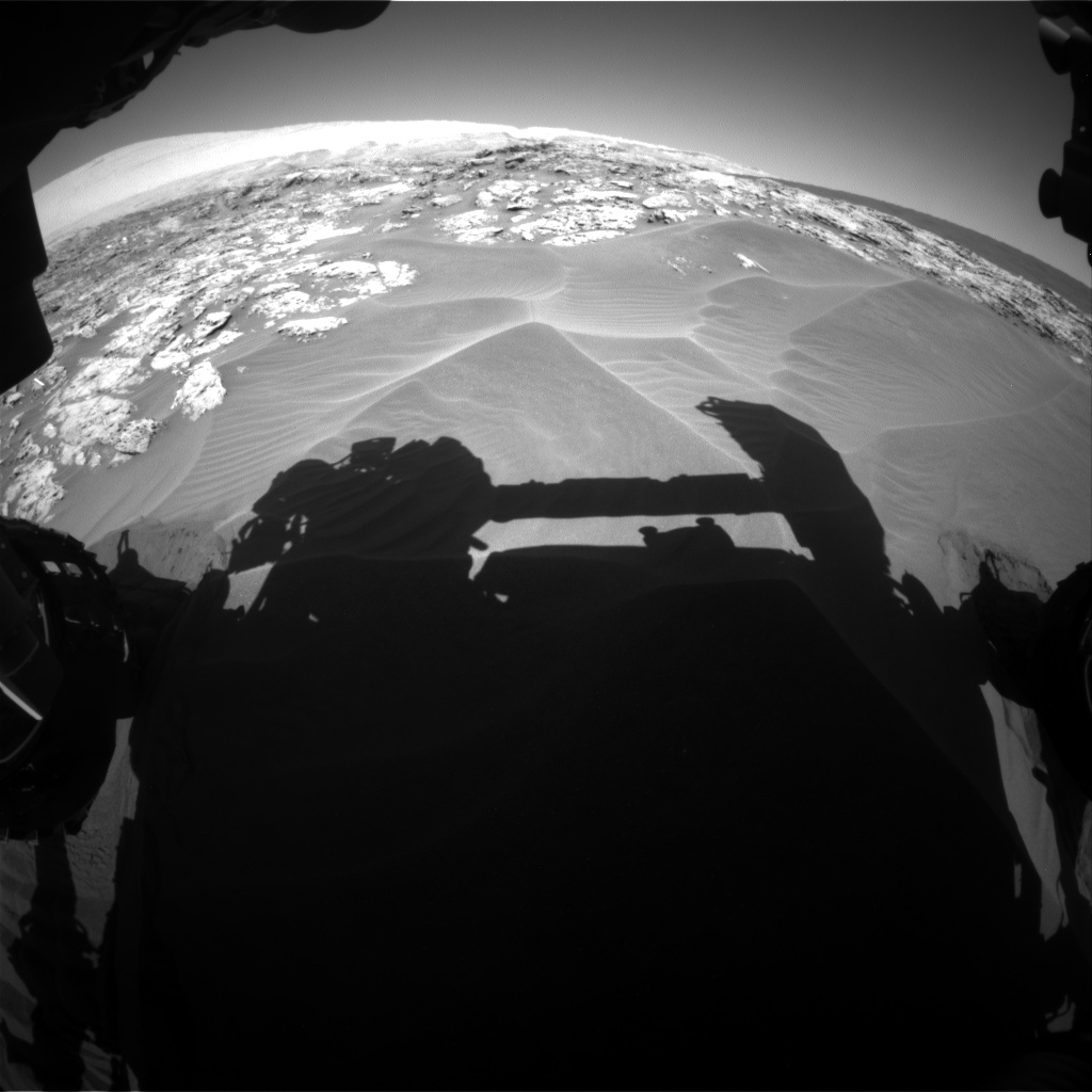 Nasa's Mars rover Curiosity acquired this image using its Front Hazard Avoidance Camera (Front Hazcam) on Sol 1181, at drive 1270, site number 51