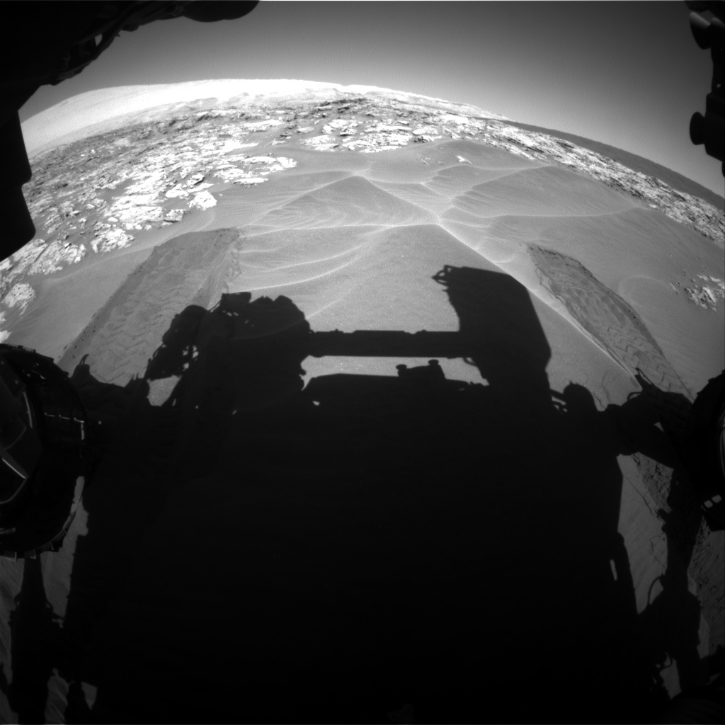 Nasa's Mars rover Curiosity acquired this image using its Front Hazard Avoidance Camera (Front Hazcam) on Sol 1181, at drive 1288, site number 51