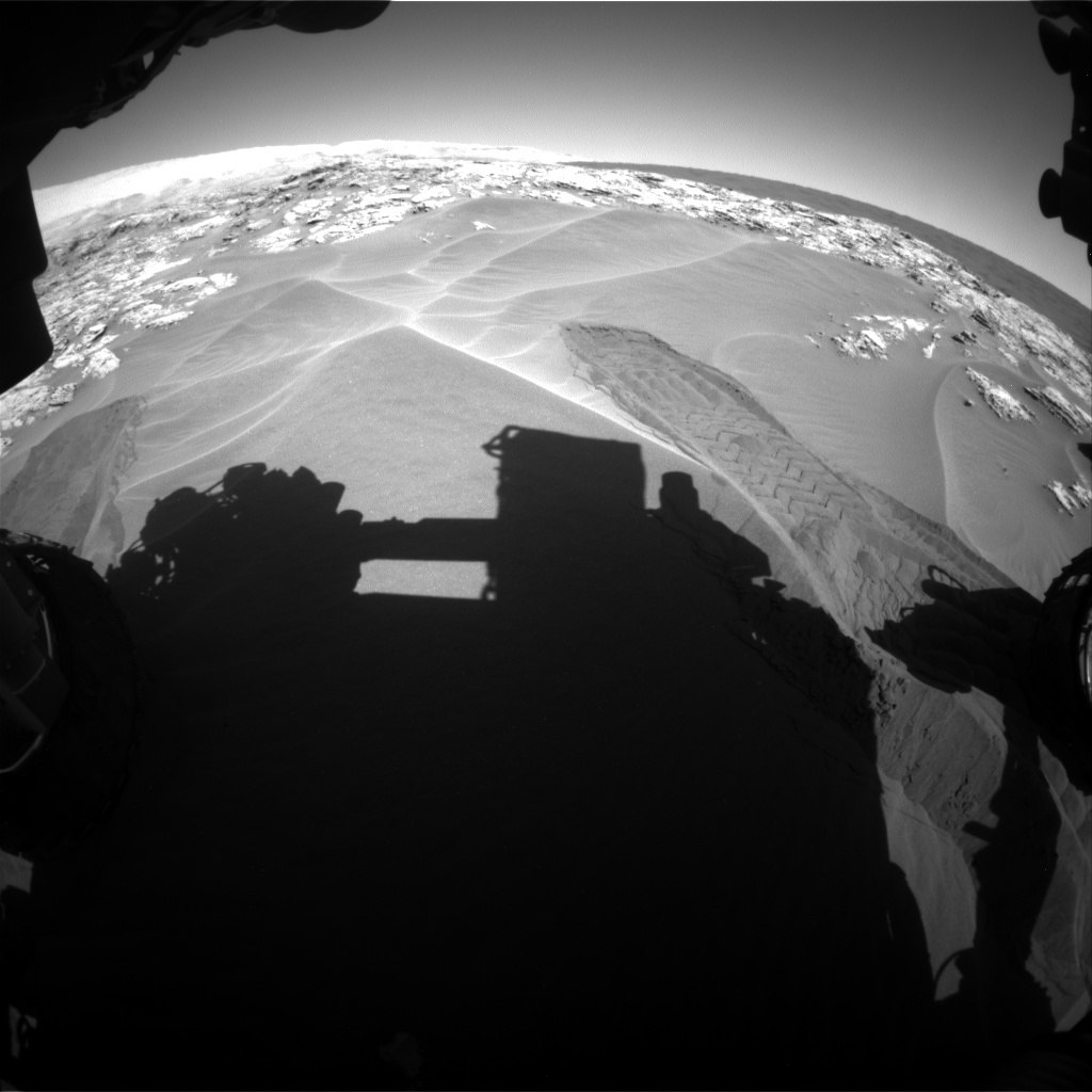 Nasa's Mars rover Curiosity acquired this image using its Front Hazard Avoidance Camera (Front Hazcam) on Sol 1181, at drive 1298, site number 51