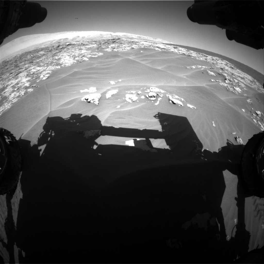 Nasa's Mars rover Curiosity acquired this image using its Front Hazard Avoidance Camera (Front Hazcam) on Sol 1181, at drive 1180, site number 51
