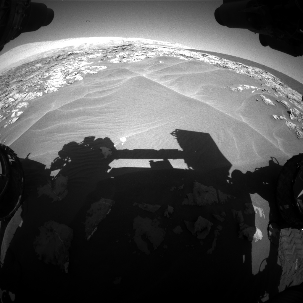 Nasa's Mars rover Curiosity acquired this image using its Front Hazard Avoidance Camera (Front Hazcam) on Sol 1181, at drive 1198, site number 51