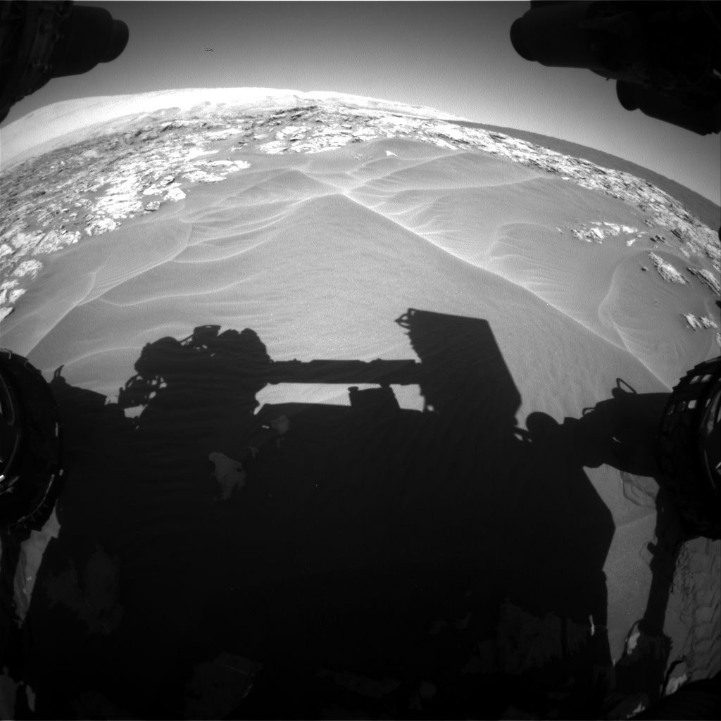 Nasa's Mars rover Curiosity acquired this image using its Front Hazard Avoidance Camera (Front Hazcam) on Sol 1181, at drive 1204, site number 51
