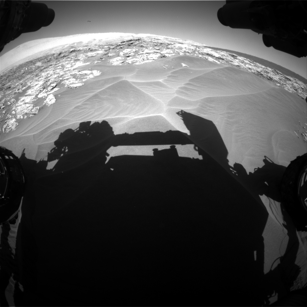 Nasa's Mars rover Curiosity acquired this image using its Front Hazard Avoidance Camera (Front Hazcam) on Sol 1181, at drive 1240, site number 51
