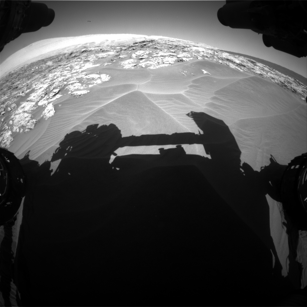 Nasa's Mars rover Curiosity acquired this image using its Front Hazard Avoidance Camera (Front Hazcam) on Sol 1181, at drive 1252, site number 51