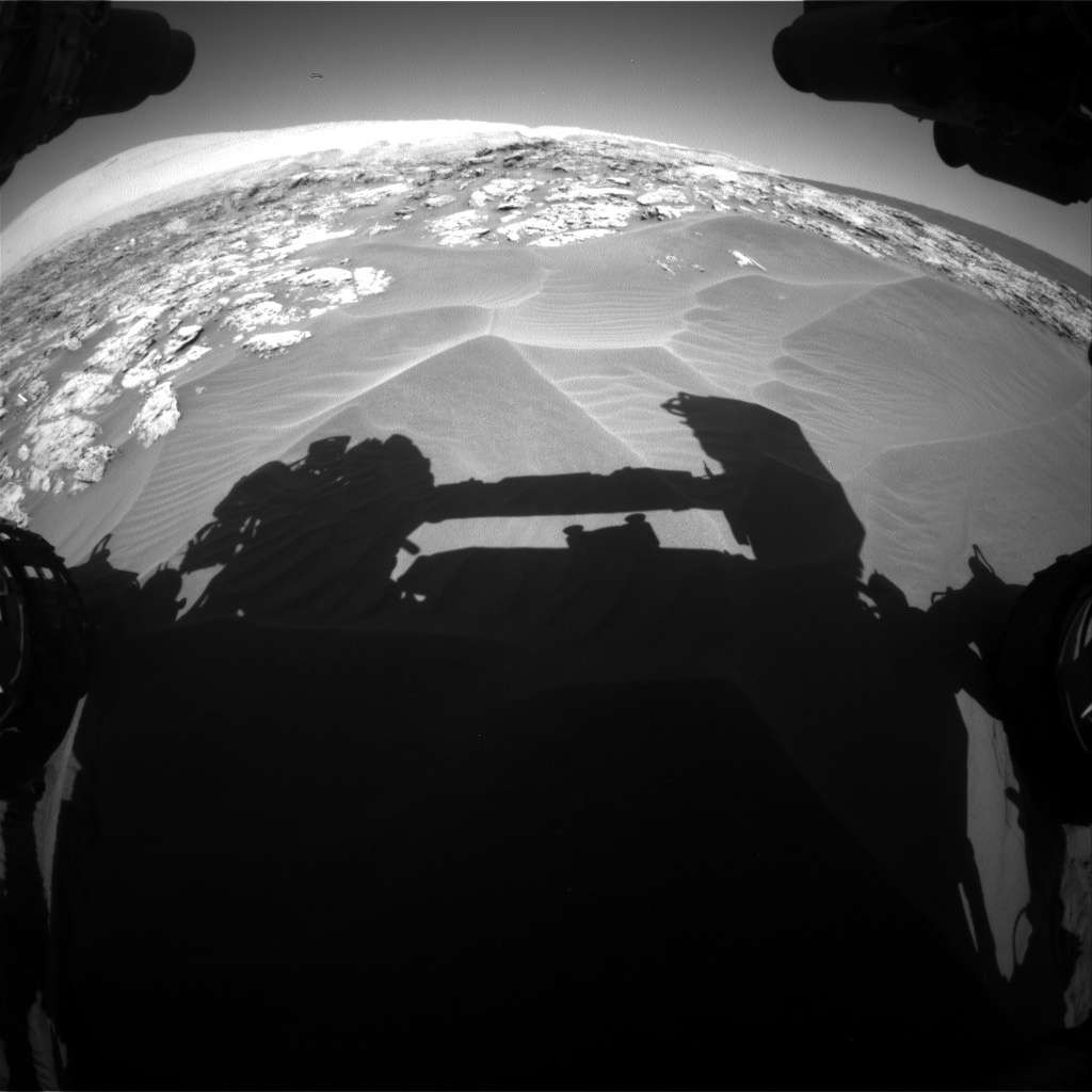 Nasa's Mars rover Curiosity acquired this image using its Front Hazard Avoidance Camera (Front Hazcam) on Sol 1181, at drive 1258, site number 51