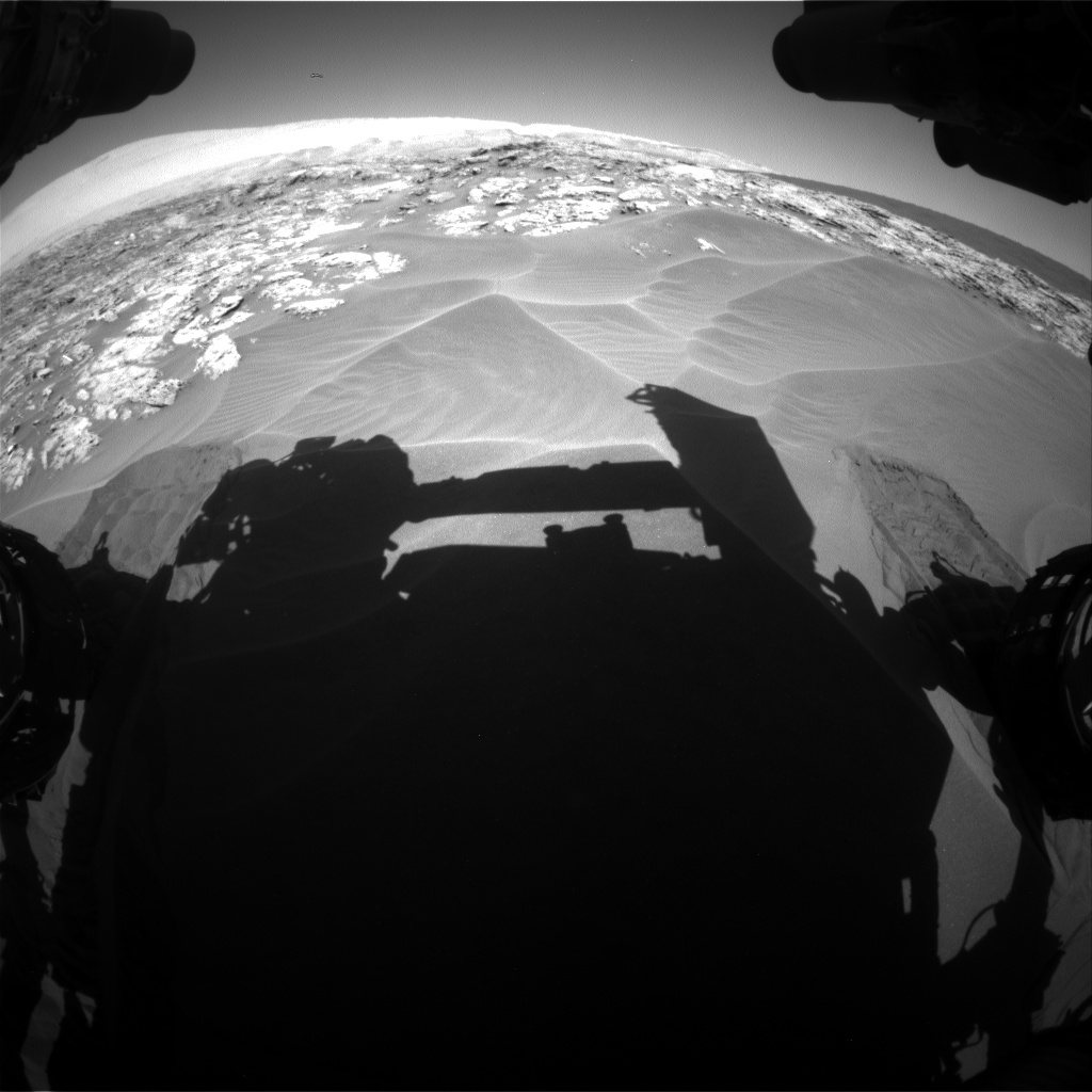 Nasa's Mars rover Curiosity acquired this image using its Front Hazard Avoidance Camera (Front Hazcam) on Sol 1181, at drive 1276, site number 51