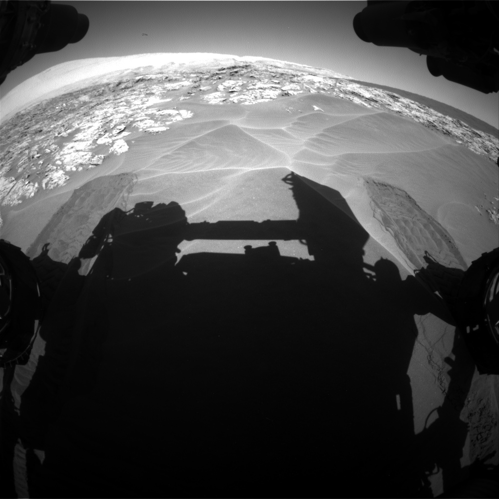 Nasa's Mars rover Curiosity acquired this image using its Front Hazard Avoidance Camera (Front Hazcam) on Sol 1181, at drive 1282, site number 51