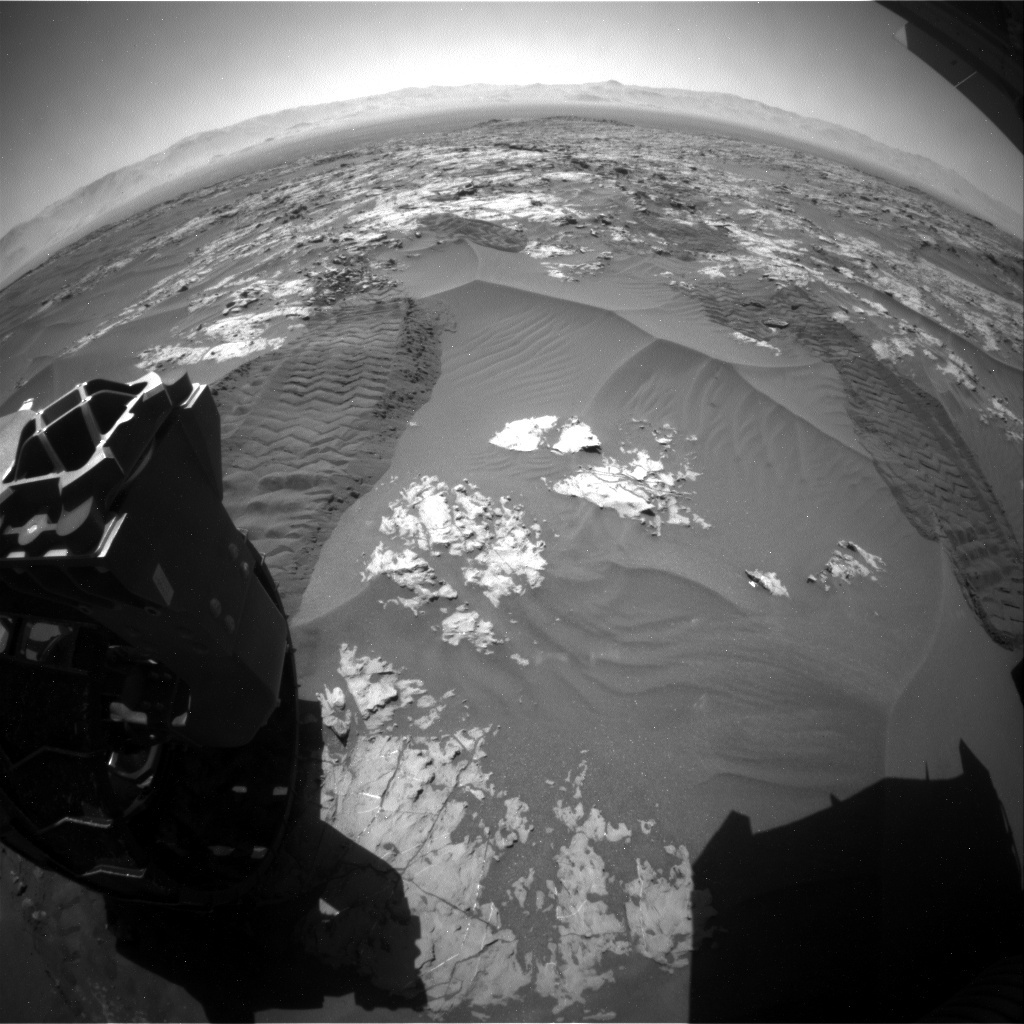 NASA's Mars rover Curiosity acquired this image using its Rear Hazard Avoidance Cameras (Rear Hazcams) on Sol 1181
