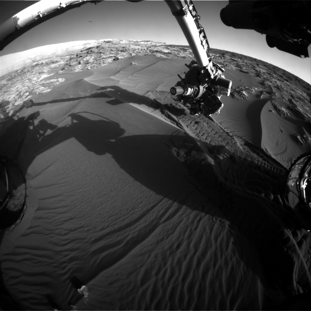 Nasa's Mars rover Curiosity acquired this image using its Front Hazard Avoidance Camera (Front Hazcam) on Sol 1182, at drive 1298, site number 51