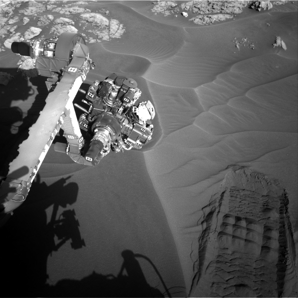 Nasa's Mars rover Curiosity acquired this image using its Right Navigation Camera on Sol 1182, at drive 1298, site number 51