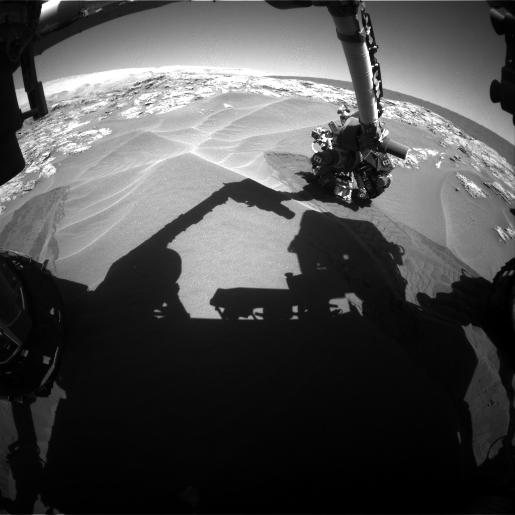 Nasa's Mars rover Curiosity acquired this image using its Front Hazard Avoidance Camera (Front Hazcam) on Sol 1183, at drive 1298, site number 51