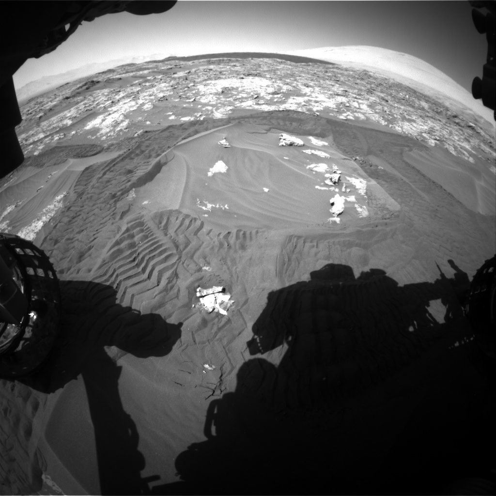 Nasa's Mars rover Curiosity acquired this image using its Front Hazard Avoidance Camera (Front Hazcam) on Sol 1183, at drive 1358, site number 51