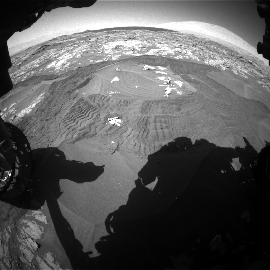 Nasa's Mars rover Curiosity acquired this image using its Front Hazard Avoidance Camera (Front Hazcam) on Sol 1183, at drive 1364, site number 51