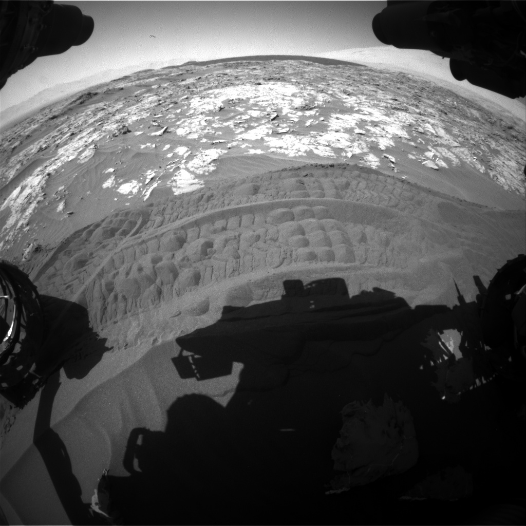 Nasa's Mars rover Curiosity acquired this image using its Front Hazard Avoidance Camera (Front Hazcam) on Sol 1183, at drive 1328, site number 51